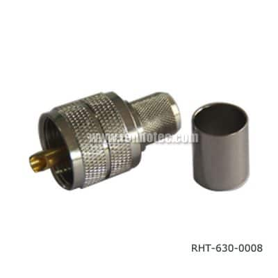 Crimp PL 259 UHF Plug for RG58, LMR300