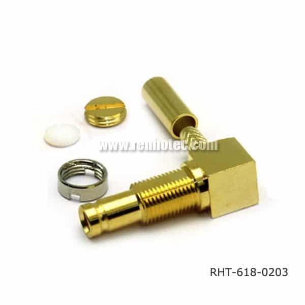 DIN 1.0/2.3 RA Connector Jack for RG179, ST212