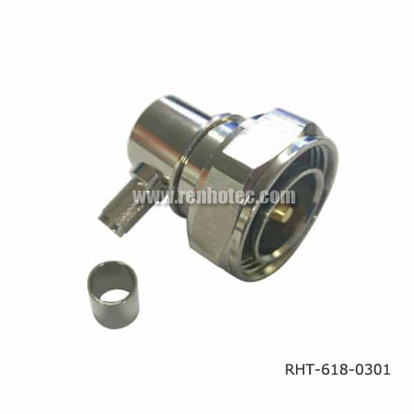 DIN 7/16 Male Angled Connector Crimp Type