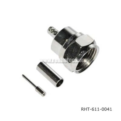 Crimp F Connector Male Straight for RG179