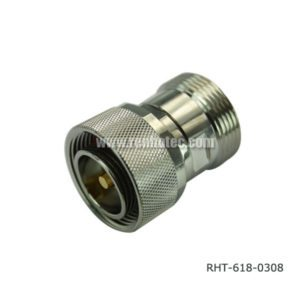 DIN 7 16 Adapter Male to Female 180 Degree