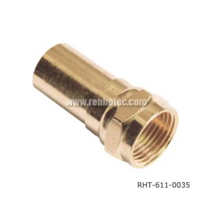 F Cable Connector Straight Male with Gold Plated
