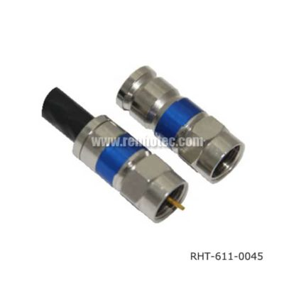 F Connector Compression Type Straight Male for RG6