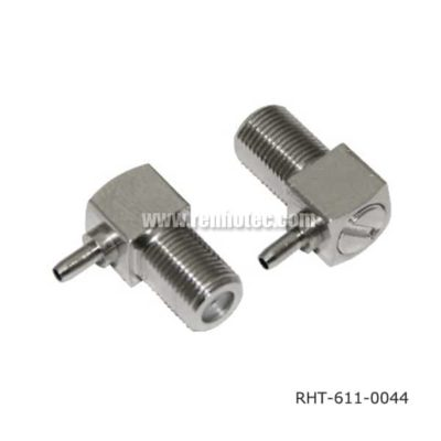 Quick F Connector Jack 90 Degree Crimp Type for RG174