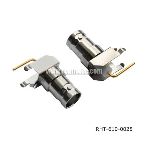 100PCS 50ohm MCX Socket female plug straight RF COAXIAL PCB mount plug Slant pin