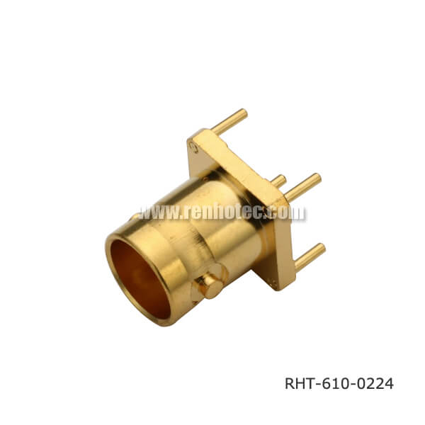 BNC Connector on PCB Gold Palted for Mount