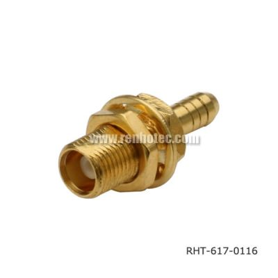 Front Bulkhead MCX Female Solder Type for Cable RG178