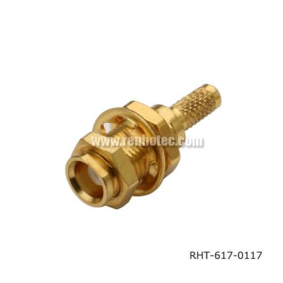 MCX Bulkhead Connector Jack Crimp Type for Cable RG316