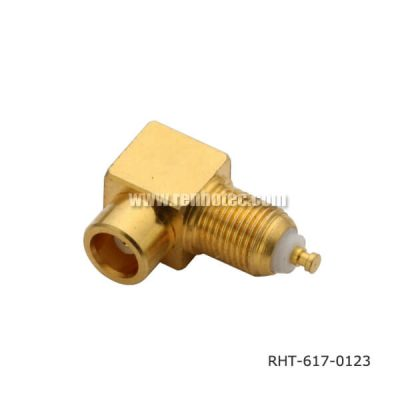 MCX Cables Right Angle Bulkhead Jack Receptacle