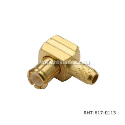 MCX Connector Right Angle Crimp Type Plug for Cable RG316