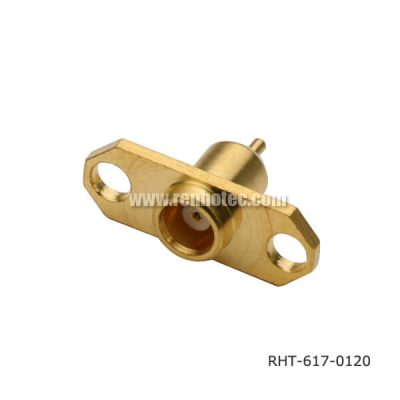 MCX TV Cable 2 Hole Flange Mount Jack Receptacle