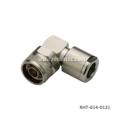 N-Type 50 Ohm Connector Angled Plug for LMR400,213,214, Clamp