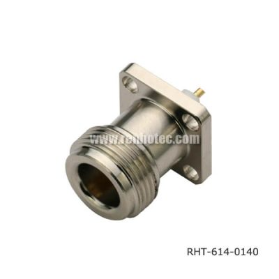 N Type Connector Panel Mount 4Holes Flange Jack Receptacle