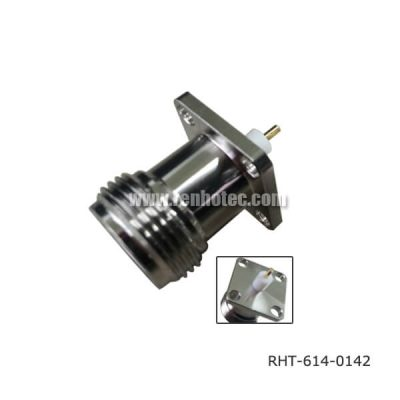 N Type Jack Panel Receptacle Jack 4Holes Flange with SQ17.5