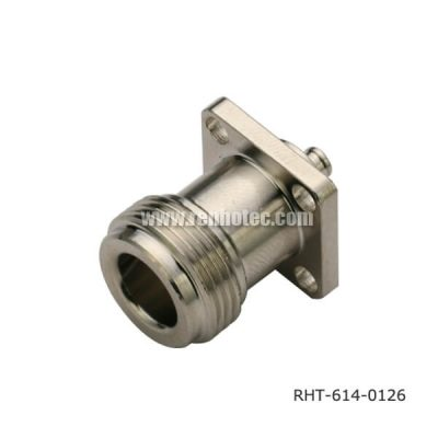 N Type Panel Jack 4Holes Flange WH Seal for Cable UT085