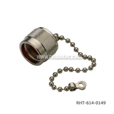 N Type Plug Straight Dust Cap With Chain