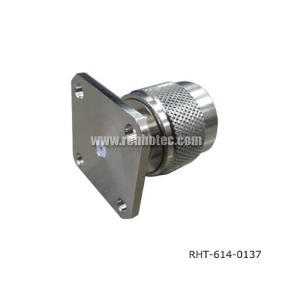 N Type Straight Panel 4Holes Flange Plug Receptacle