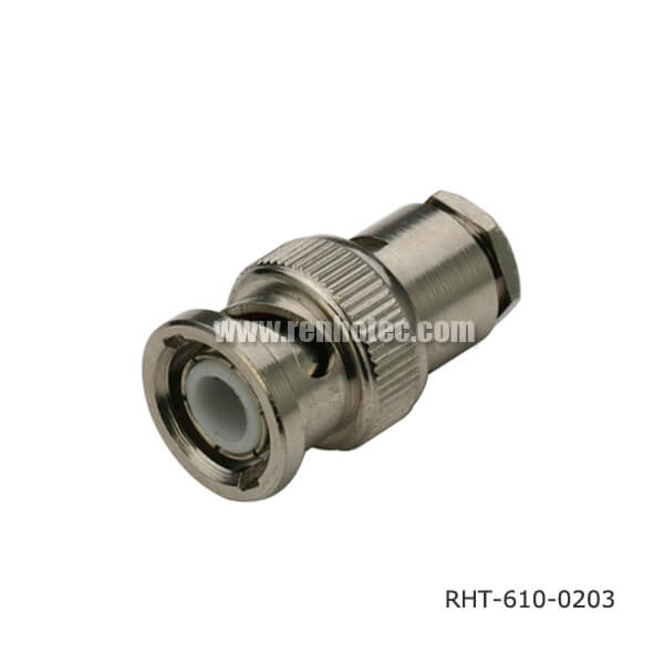 Rg bnc male connector for cable clamp renhotec