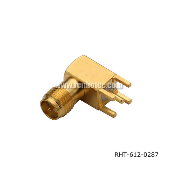 Reverse sma connector r a jack pcb receptacle renhotec