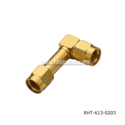 Right Angle SMA Male to Male Adaptor
