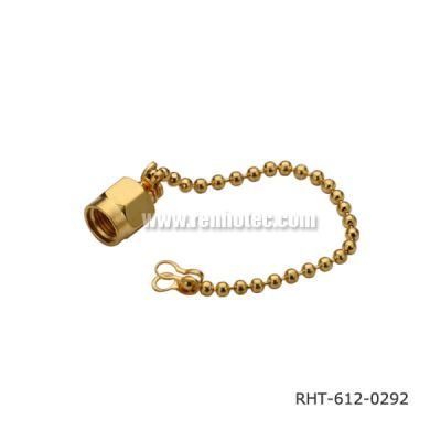 SMA Connector Dust Cap With Chain Gold Plating