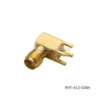 SMA Female Connector RA for Through Hole PCB Mount