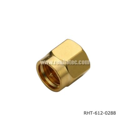 SMA Male Plug Straight with Gold Plating (Short Circuits)
