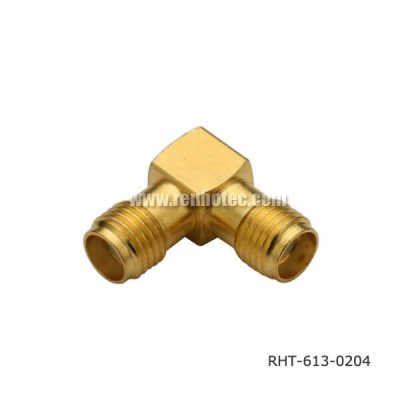SMA Right Angle Female to Jack Adaptor