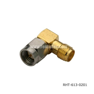 SMA Right Angle Plug to Jack Adaptor