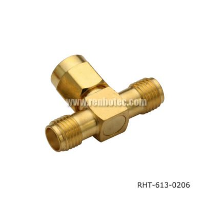 SMA T-Adaptor Female-Plug-Female
