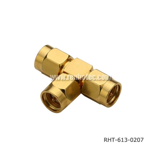 SMA T-Adaptor Plug-Plug-Plug