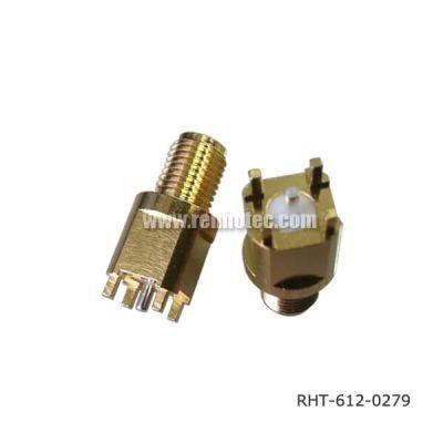 SMA to PCB Connector Bulkhead 180 Degree Jack