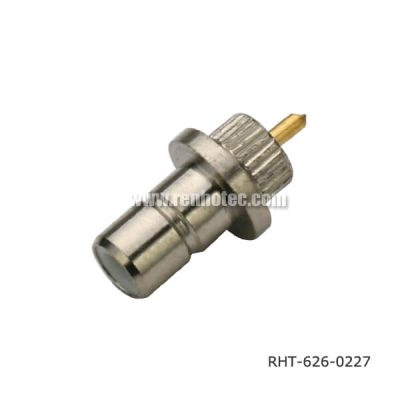 SMB 180° Solder Type Bulkhead M4 Receptacle with Seal