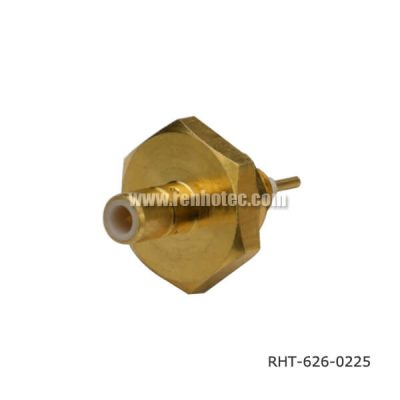 SMB Jack Solder Type Bulkhead M4 Receptacle with Seal