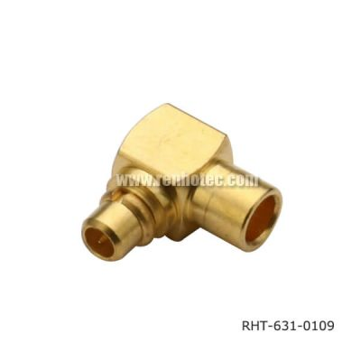 Soldering MMCX Connector Type Right Angle Plug for UT085