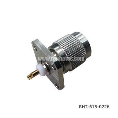TNC Flange Mount Connector 4Hole Solder Type Plug Receptacle