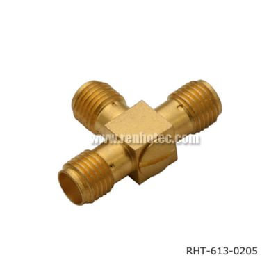 Triple Female TEE Type SMA Adaptor
