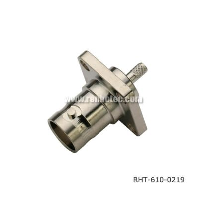 Video BNC Connector Panel 4Holes Flange Jack for RG316