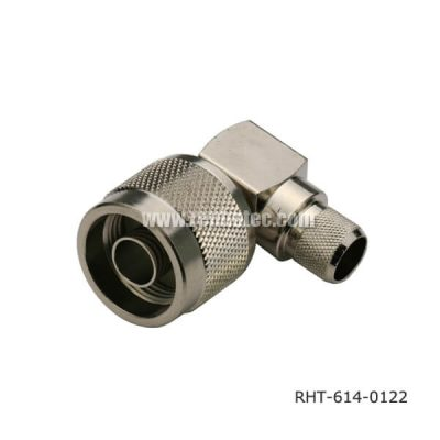 Videos N Type Connectors Angled Crimp Type Plug for RG214
