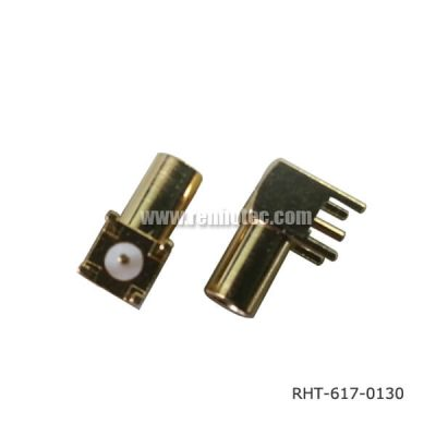 to MCX Cable tv Angled Through Hole Jack PCB Special Type