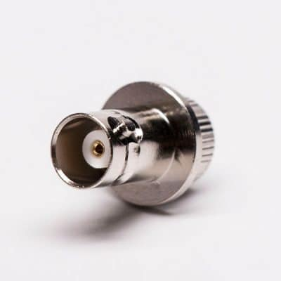 BNC Female Connector straight knurl for Panel Mount vertical type