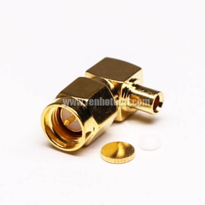 SMA Male Right Angle Connector Solder Type for Coaxial Cable
