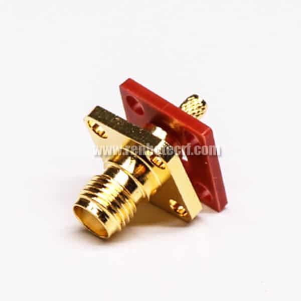 SMA Flange Mount Jack 180 Degree Crimp Type for Cable