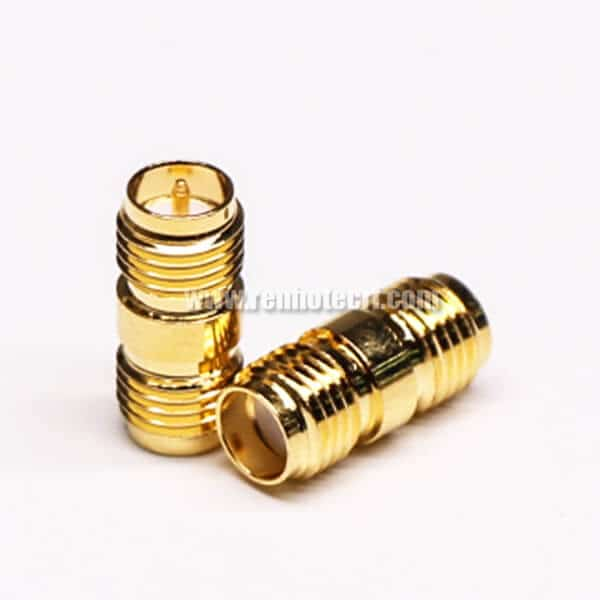 RP SMA Adapter Female Straight Gold Plating