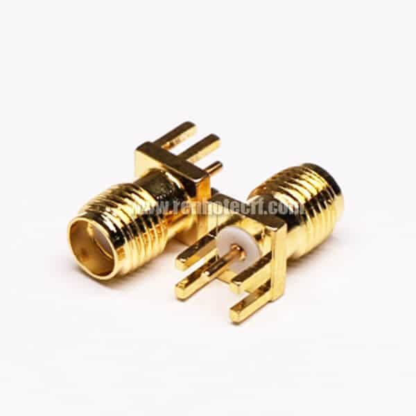 SMA Female Straight PCB RF Connector Gold Plating DIP Type