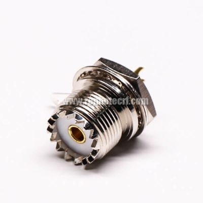 UHF Female 180 Degree Connector Front Bulkhead for Panel Mount