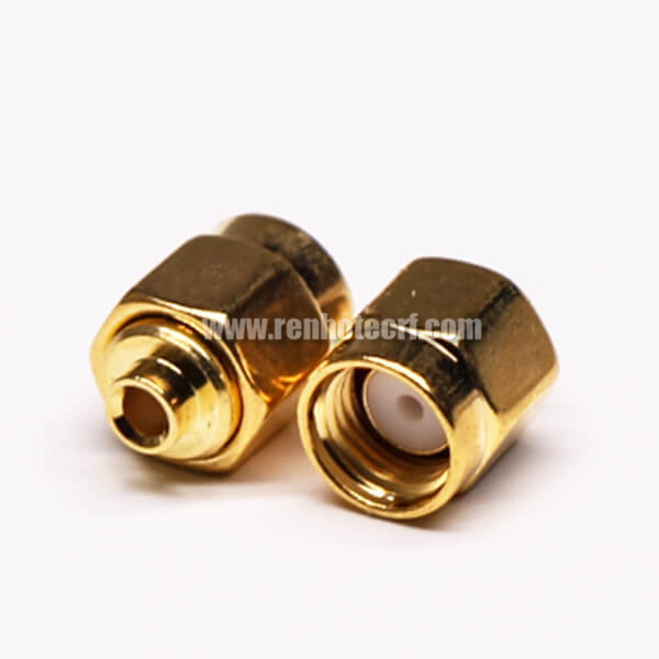 SMA Straight Male pin Solder Type Gold Plating for Coaxial Cable