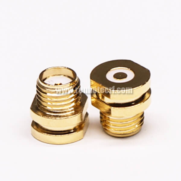 SMA SMT 180 Degree Front Bulkhead Jack Gold Plating