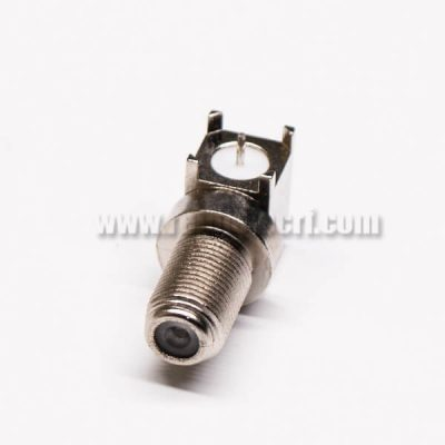F Connector Female Through Hole 90 Degree for PCB Mount