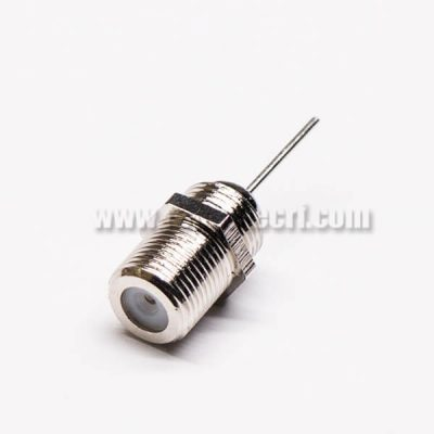 F Connector Panel Mount 180 Degree Female Solder Type to TV